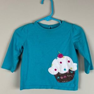 Jumping Beans Cupcake Long Sleeve 12 Months